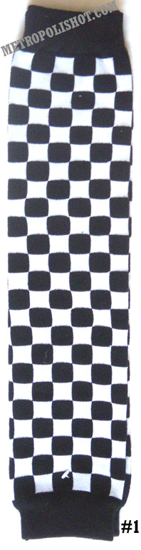 LEG WARMER LEGW -1   Checkers White